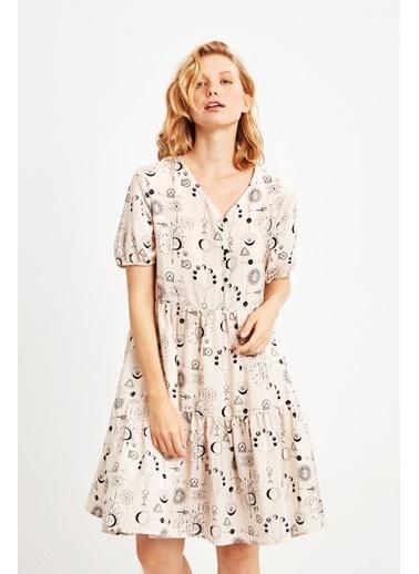 Penye Mood 9041 Elbise Bej